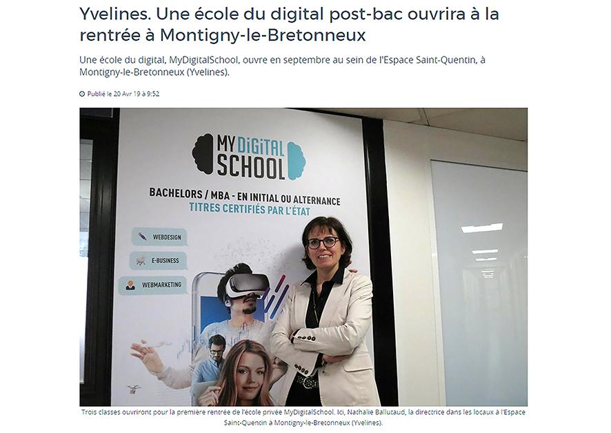 la presse locale parle de nous   my digital school saint